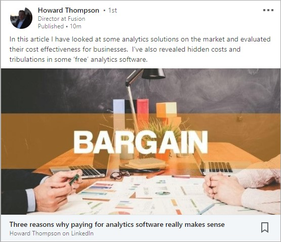 Three reasons why paying for analytics software really makes sense